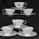 VILLEROY & BOCH Marlene White Cups and Saucers  Set/6 New