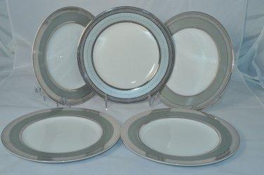 RALPH LAUREN China Silk Ribbon Slate Salad Plates Set of 5 New