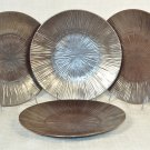 NAMBE Sunburst Metallic Sunrise Salad Plate Set/4  Stoneware New
