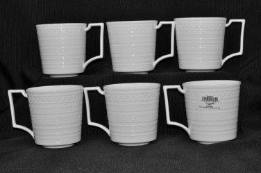WEDGWOOD Bone China Intaglio Mug Set/6  New
