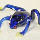 BERNI ENTERPRISES Art Glass Frog Toad Blue Hand Blown New