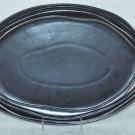 "NAMBE  Earth Metallic Sunset  Oval Serving Platter 18""  Stoneware New"