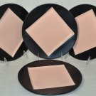 KATE SPADE Saturday Square-in-Circle  Accent  Plates Black/Blush Set of 4  NIB