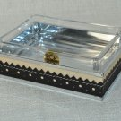 LABRAZEL Spectator Black Fine Leather Soap Dish Crystal Jamie Drake Italy New