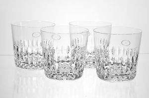 CRYSTAL Clear Diamond Cut DOF Glasses Set/4 Hungary New