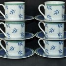 VILLEROY & BOCH Switch 3 Cup and Saucer Set/6 New
