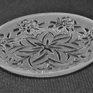 Lalique Crystal Edelweiss Flat Small Bowl Coupelle Plate NIB