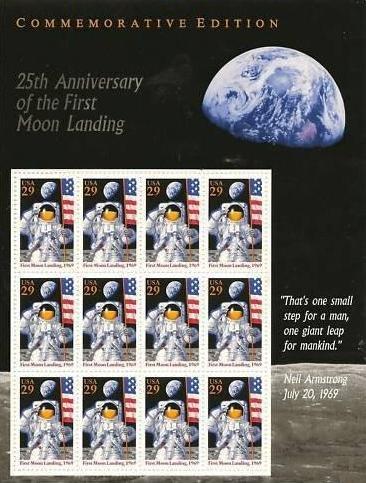 Scott #2841 25th Anniversay of First Moon Landing 12 x 29¢