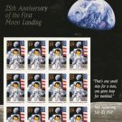 Scott #2841 25th Anniversay of First Moon Landing 12 x 29¢