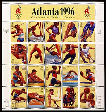 Scott #3068 Atlanta Centennial Olympic, sheet ,20 x 32¢
