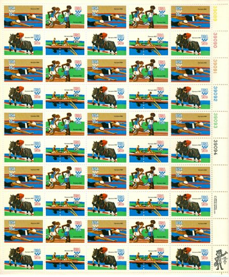 Scott #1994a 1980 Summer Olympic Games 50 x 15¢