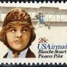 Scott #C-99 Blanche Stuart Scott, Pioneer Pilot single Air Mail stamp 28¢