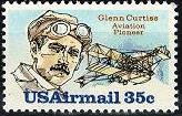 Scott #C100 Glenn Curtiss, Aviation Pioneer single Air Mail stamp 35¢