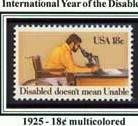 Scott #1925 International Year of the Disabled � Disabled doesn�t mean Unable single stamp 18¢