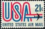 Scott #C81 USA Air Mail single stamp 21¢