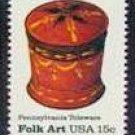 Scott #1777 Pennsylvania Toleware – Sugar Bowl single stamp 15¢