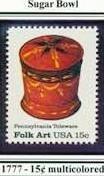 Scott #1777 Pennsylvania Toleware � Sugar Bowl single stamp 15¢