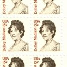 Scott #1822 Dolley Madison 1980 stamp plate block 20 x15¢