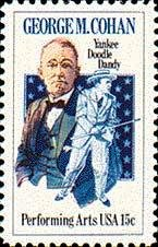 Scott #1756 GEORGE M. COHAN - Performing Arts � 1978 single stamp denomination 15¢
