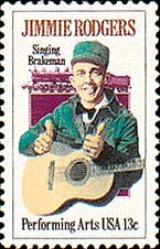 Scott #1755 JIMMIE RODGERS - Performing Arts � 1978 single stamp denomination 13¢