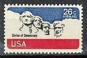 Scott # C88 Mount Rushmore � 1976 single AIR MAIL stamp denomination 26¢