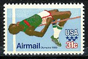Scott #C-97 Summer Olympics, Moscow, High Jump � 1979 single AIR MAIL stamp denomination 31¢