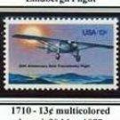 Scott #1740 LINDBERGH FLIGHT – SPIRIT OF ST. LOUIS single stamp denomination: 13¢