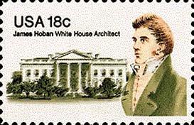 Scott #1935 JAMES HOBAN � White House Architect 1981 single stamp denomination: 18¢