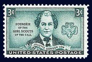 Scott #974 JULIETTE GORDON LOW � Founder of the Girl Scouts 1948 single stamp denomination: 3¢
