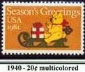 Scott #1940 SEASONS GREETING �Christmas Tree Teddy 1981 single stamp denomination: 20¢