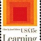 "Scott #1833 AMERICAN EDUCATION - ""Homage to the Square: Glow""1980 single stamp denomination: 15¢"