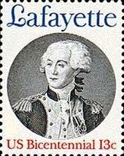 Scott #1716 MARQUIS de LAFAYETTE - American Bicentennial 1977 single stamp denomination: 13¢