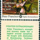 Scott #1562 AMERICAN BICENTENNIAL - Peter Francisco 1975 single stamp denomination: 13¢