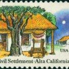 Scott #1725 ALTA CALIFORNIA – First Civil Settlement 1977 single stamp denomination: 13¢