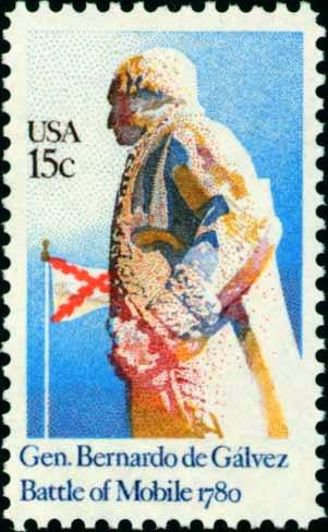 Scott #1826 BERNARDO DE GALVEZ � Battle of Mobile 1980 single stamp denomination: 15¢