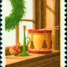 Scott #1843 CHRISTMAS - Wreath and toys 1980 single stamp denomination: 15¢