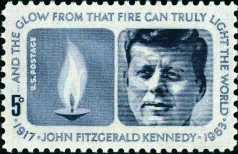 Scott #1246 KENNEDY MEMORIAL 1964 single stamp denomination: 5¢
