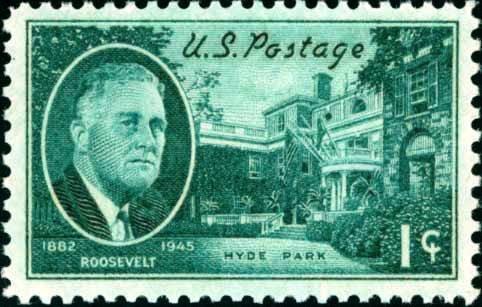 Scott #930 FRANKLIN D. ROOSEVELT � Hyde Park Residence 1945 single stamp denomination: 1¢