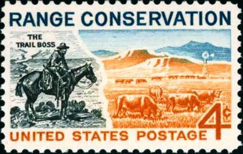 Scott #1176 RANGE CONSERVATION 1961 single stamp denomination: 4¢