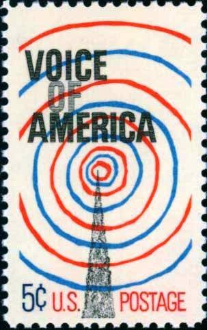 Scott #1329 VOICE OF AMERICA 1967 single stamp denomination: 5¢