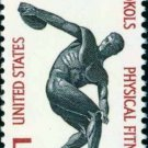 Scott #1262 PHYSICAL FITNESS-SOKOL 1967 single stamp denomination: 5¢