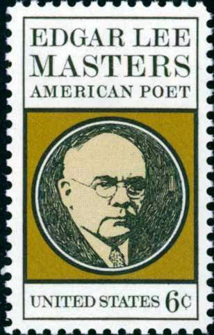 Scott #1405 EDGAR LEE MASTERS 1970 single stamp denomination: 6¢