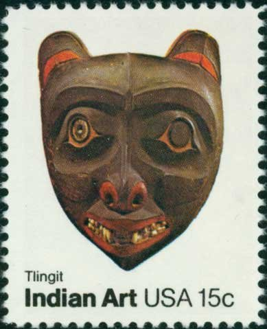 Scott #1836 INDIAN ART � Tingit 1980 single stamp denomination: 15¢