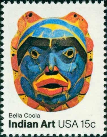 Scott #1837 INDIAN ART � Bella Coola 1980 single stamp denomination: 15¢