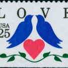 Scott #2441 LOVE. booklet stamp1990 single stamp denomination: 25¢
