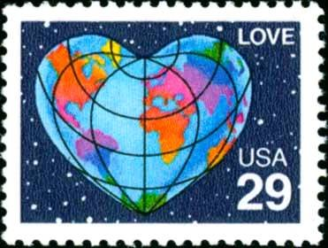 Scott #2535 LOVE - Heart 1991 single stamp denomination: 29¢
