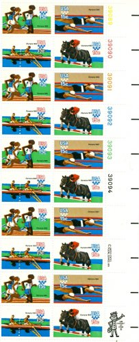 Scott #1794a plate block 1980 SUMMER OLYMPIC GAMES 1979 stamp plate block of 20 denomination:15¢