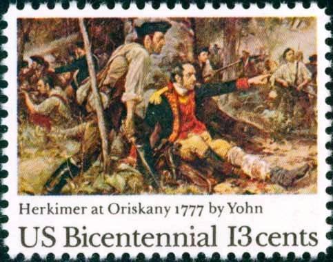 Scott # 1722 BATTLE OF ORISKANY - American Bicentennial 1977 single stamp denomination: 13¢