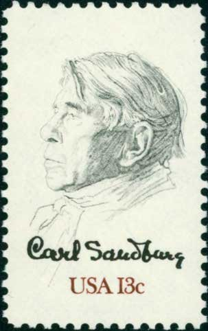 Scott #1731 CARL SANDBURG 1978 single stamp denomination: 13¢