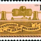 Scott #1705 CENTENNIAL OF SOUND RECORDING 1977 single stamp denomination: 13¢